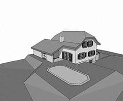 Construction d'une maison avec piscine