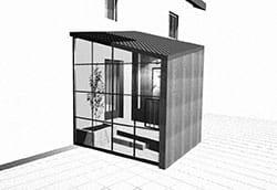 Extension avec façade vitrée