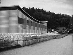 Construction d'un hangar à machines
