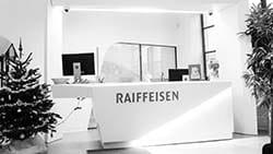 Agencement d'une banque Raiffeisen